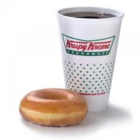 Free Krispy Kreme Coffee and Doughnut Today