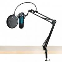 Blue Microphones Yeti Mic with Boom Arm and Pop Filter