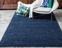 Unique Loom Solid Shag Collection Area Rug