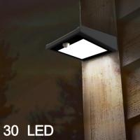 30-LED Mulcolor Solar Motion Sensor Security Wall Light