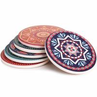 6 Lifver Absorbent Stone Coaster Set