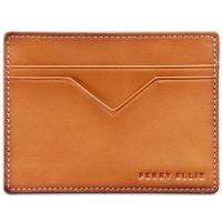 Perry Ellis Portfolio Mens Leather Cared Case