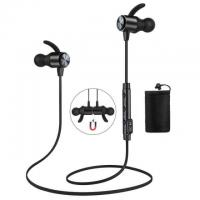 Magnetic Bluetooth 4.1 Water Resistant Headphones with Mic