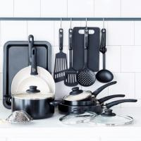 18-Piece GreenLife Soft Grip Ceramic Non-stick Cookware Set