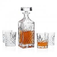 5-Piece Godinger Dublin Non-Lead Crystal Whiskey Set