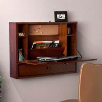 SEI Wall-Mounted Fold Down Laptop Desk with Drawer