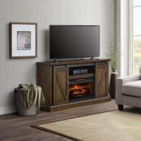 60in Chatham Barn Door Fireplace TV Stand Console