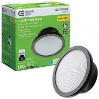 Commercial Electric Spin Light 7in LED Flush Mount Ceiling Light