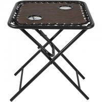 Living Accents Bungee Square Folding Table