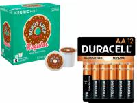 2 Keurig K-Cup Packs and 24 Duracell AA or AAA Batteries Free Rewards