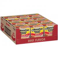 12 Maruchan Instant Lunch Beef Chicken Cup Noodle