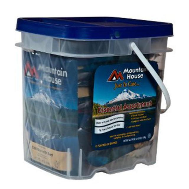 32 Freeze Dried Meals Mountain House Essential Bucket for $47.97