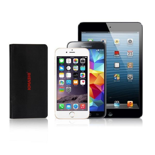 Kmashi 15000mAh Dual USB External Battery Pack for $13.79
