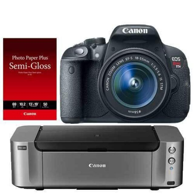 Canon T5i DSLR Camera + Lens + Printer for $369