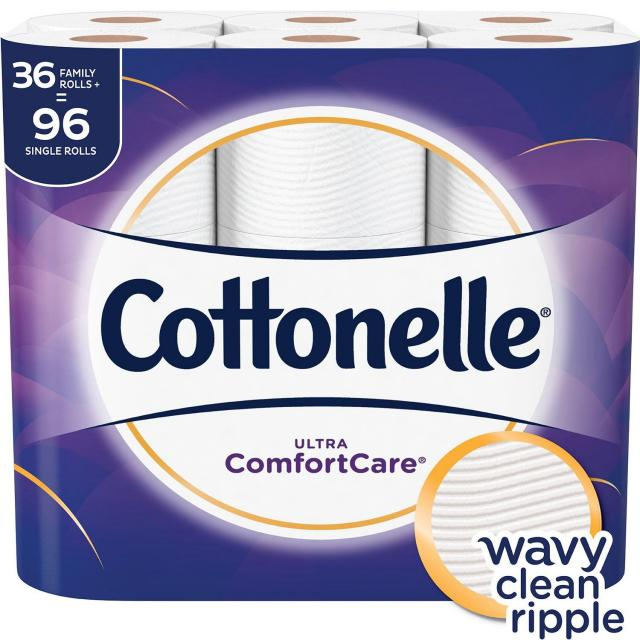 36 Cottonelle Family Roll Toilet Paper for $16.49
