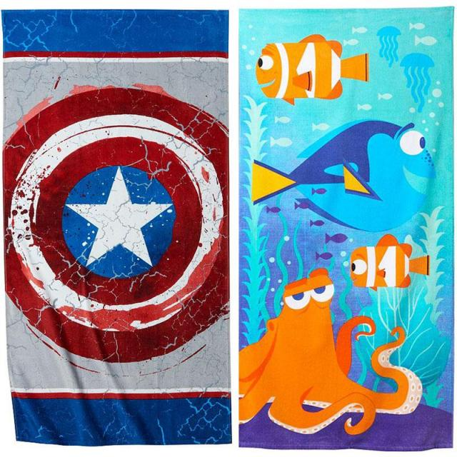 2 Disney Beach Towels for $13.58
