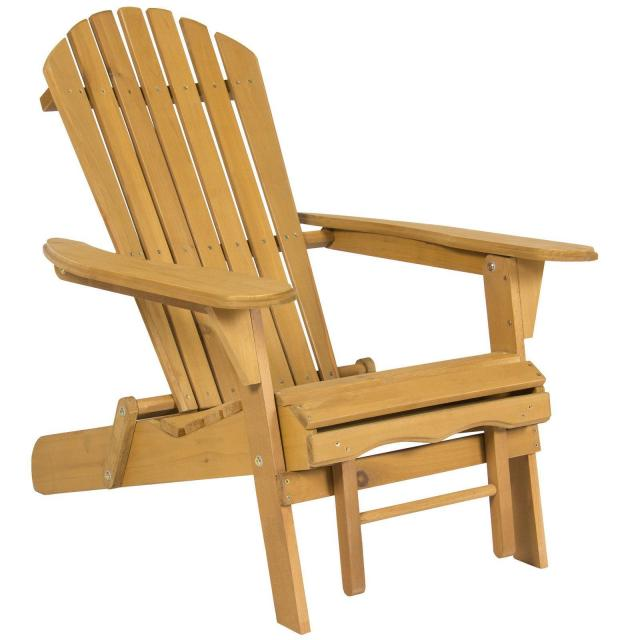 Outdoor Adirondack Wood Chair Foldable for $69.95