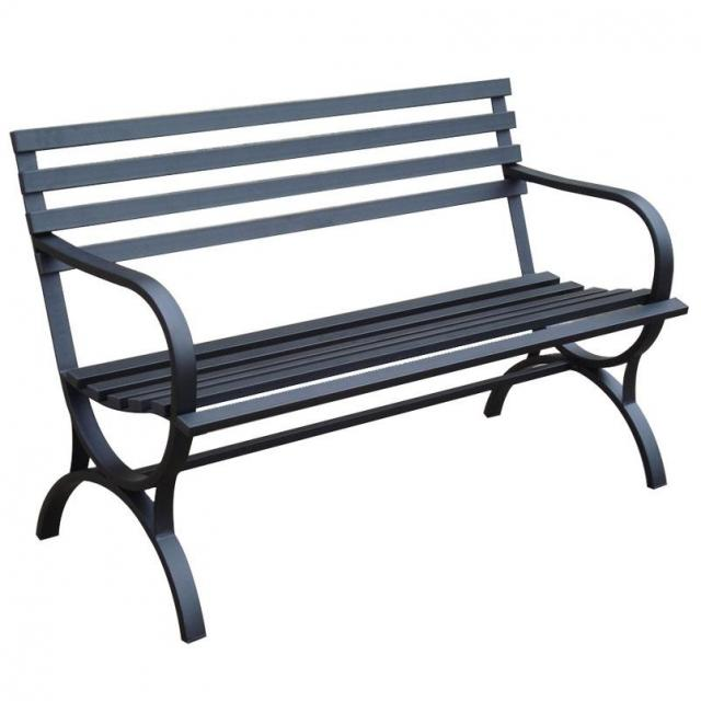 Garden Treasures Steel Patio Bench for $49