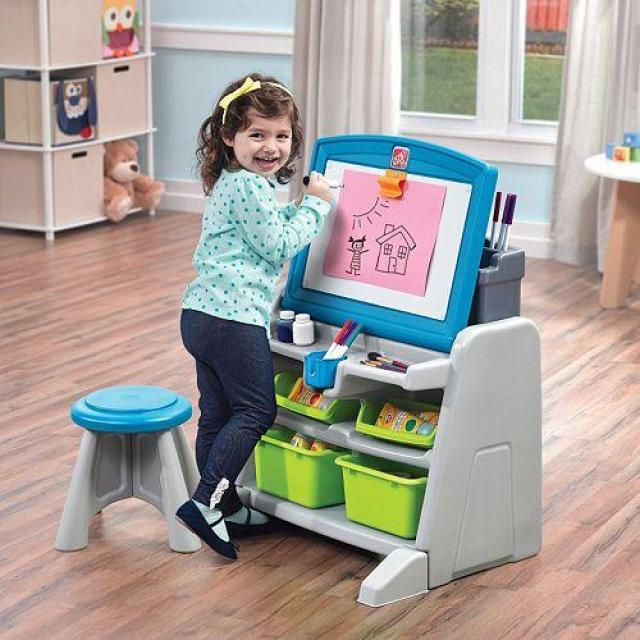 Step2 Flip & Doodle Easel Desk with Stool for $35.99