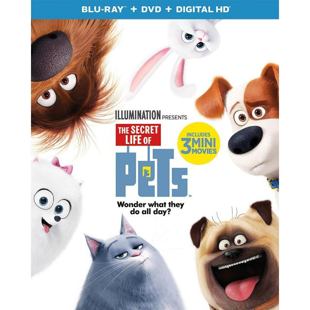 The Secret Life of Pets Blu-ray + DVD for $14.99