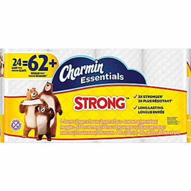 24 Charmin Strong Toilet Paper Rolls for $8.99