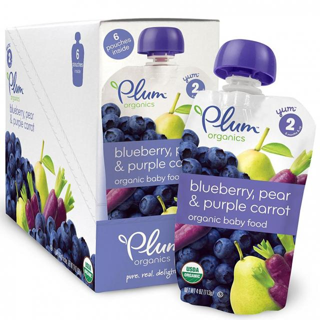 12 Plum Organics Baby Second Blend Pouches for $9.95