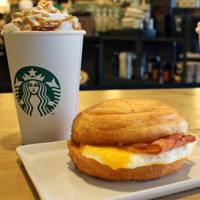 Starbucks Grande Coffee with Breakfast Sandwich for $5