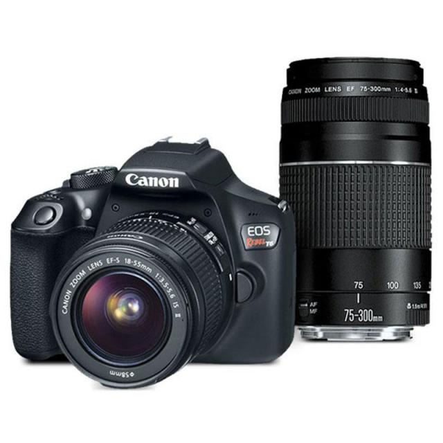 Canon EOS Rebel T6 DSLR Camera with 2 Lenses for $249.99