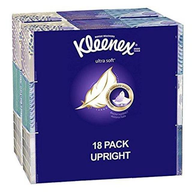 18 Kleenex Ultra Soft Facial Tissue Cube for $16.49
