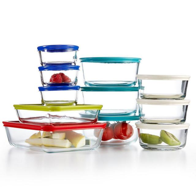 22-Piece Pyrex Glass Food Storage Container Set for $19.59
