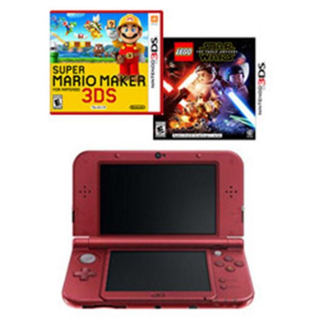 New Nintendo 3DS XL Handheld Console + Super Mario Maker + Star Wars for $139
