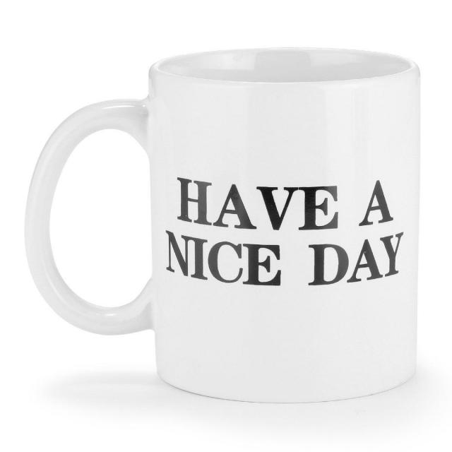 Funny Have a Nice Day Middle Finger Mug for $3.96