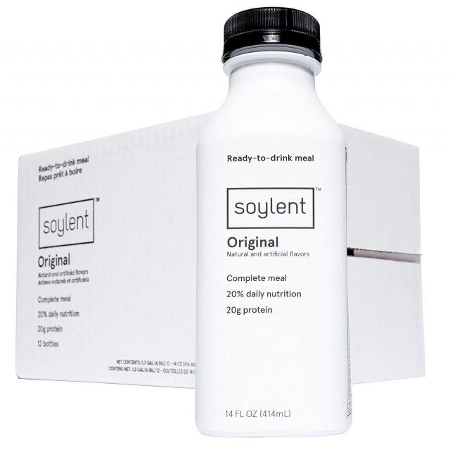 12 Soylent Meal Replacement Drinks for $25.50