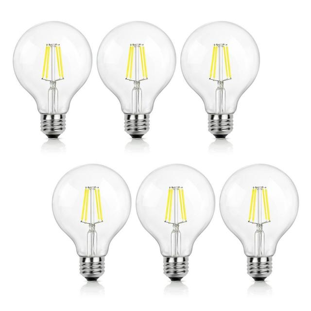 6x Shine Hai G25 LED Globe Light Bulb for $6.99