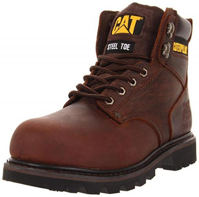 Caterpillar Mens Second Shift Steel Toe Work Boot for $55.99