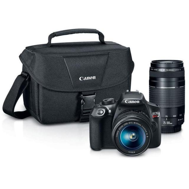 Canon Rebel T6 Digital SLR Camera with 18-55mm Lens for $329.99