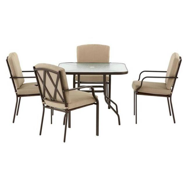 5-Piece Hampton Bay Bradley Outdoor Dining Set for $149