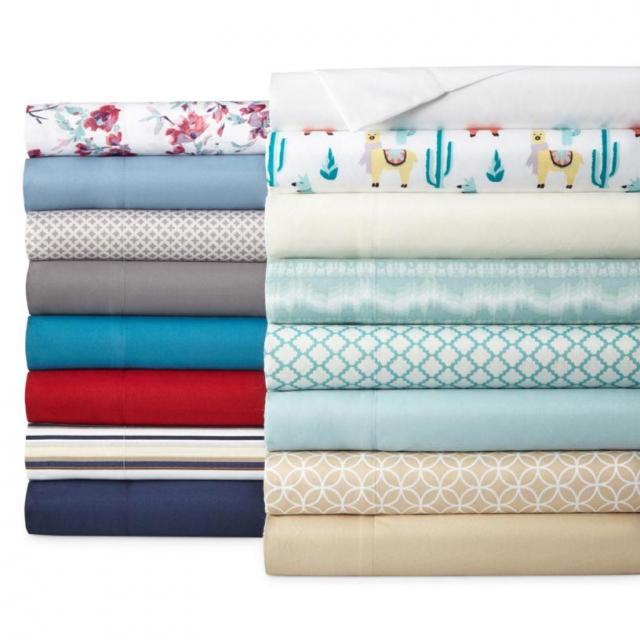 Home Expressions Microfiber Easy Care Wrinkle Resistant Sheet Set for $5.59