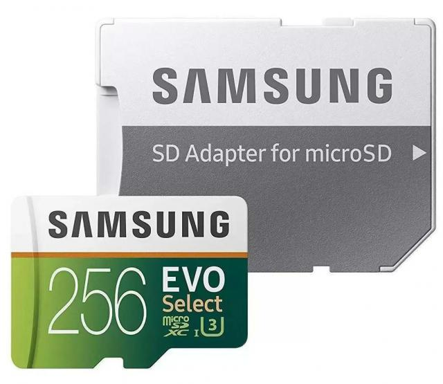 Samsung 256GB Evo Select microSDXC Memory Card for $39.99