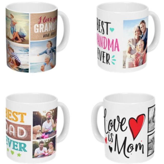11oz Personalized Photo Coffee Mug for $4.99