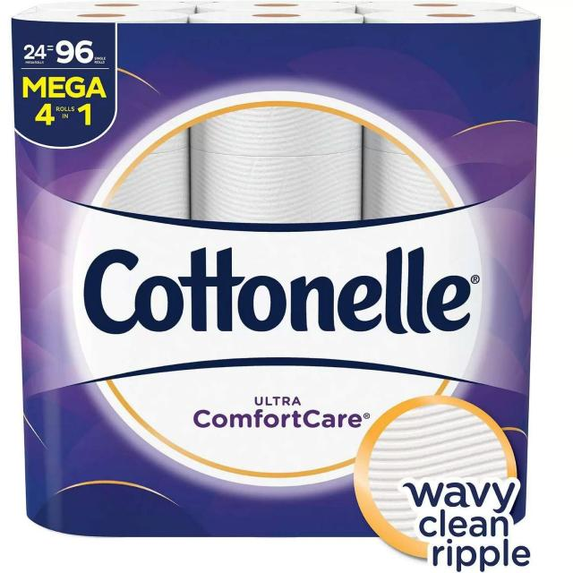 24 Cottonelle Ultra ComfortCare Toilet Paper Rolls for $17.98