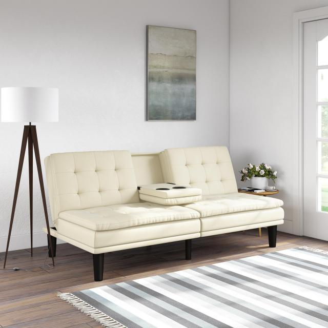 Mainstays Memory Foam Faux Leather PillowTop Futon for $189.99