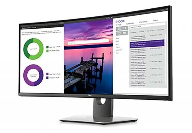 34in Dell U3419W UltraSharp Curved IPS Monitor for $663.99