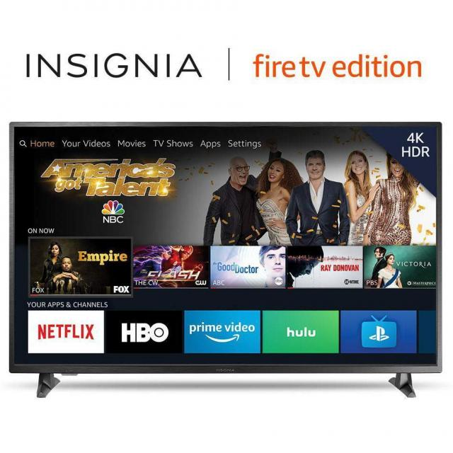 55in Insignia 4K UHD HDR Fire TV Edition Smart TV for $249.99