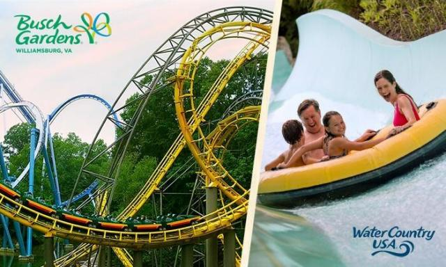 3-Day Admission to Busch Gardens Williamsburg and Water Country for $52.99