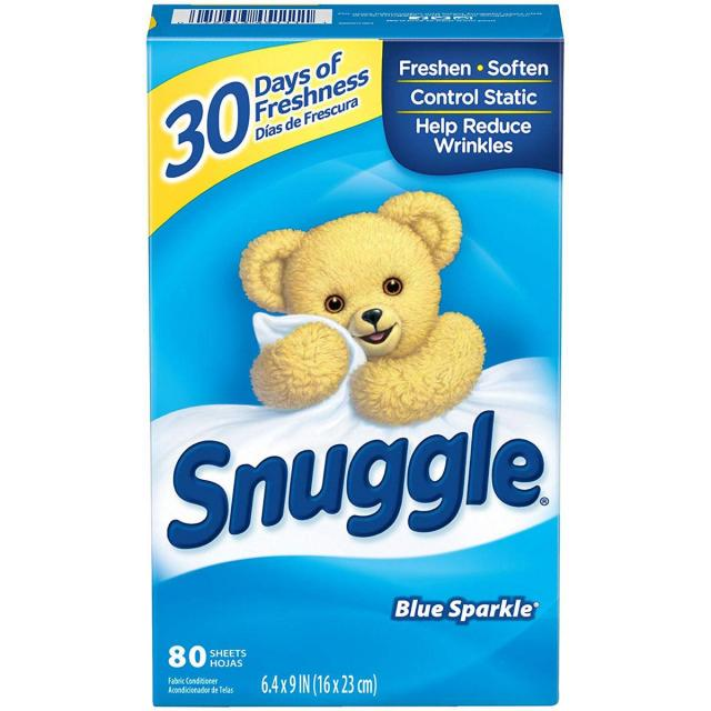 80 Snuggle Fabric Softener Dryer Sheets for $2.35