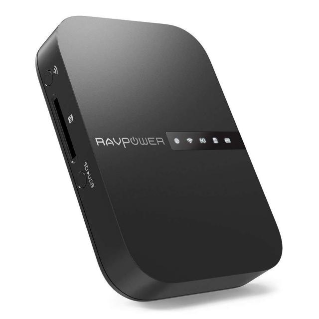 RAVPower FileHub AC750 Travel Router for $36.19