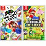 Super Mario Party + New Super Mario Bros U Deluxe for $84.15 Shipped