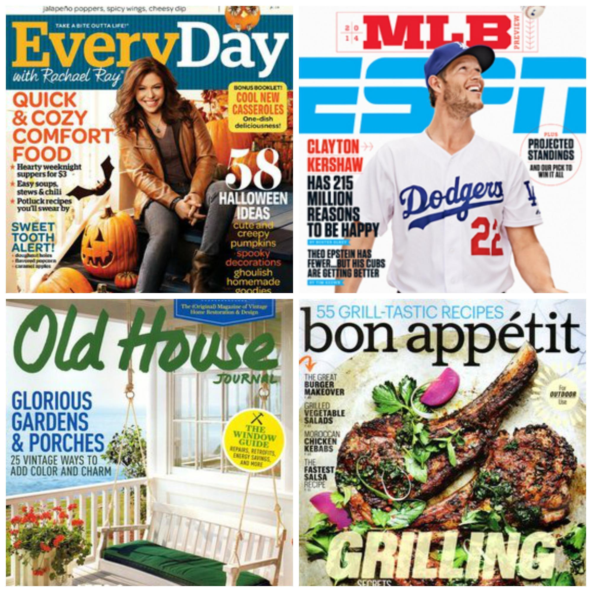 3 Magazine Subscriptions