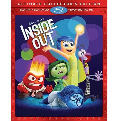 Inside Out 3D Blu-ray + Blu-ray + DVD